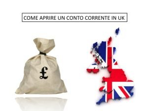 Consigli su come aprire un conto in banca a Londra