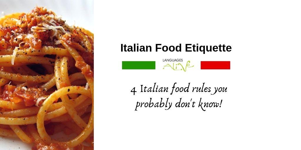 italian food etiquette