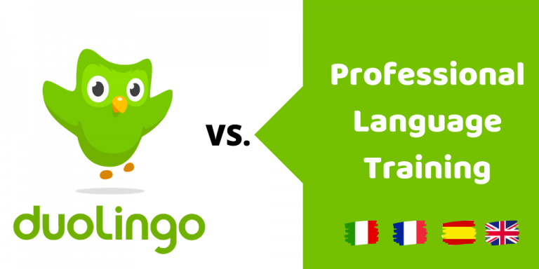 Duolingo versus professional language training, what's better?