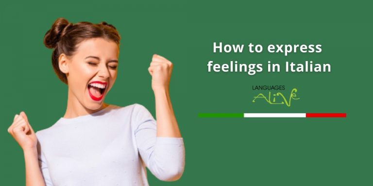 Read more about the article How to express feelings in Italian