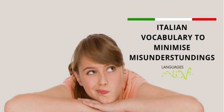 Read more about the article Italian vocabulary to minimise misunderstandings